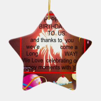 Happy Birthday To us Ceramic Ornament