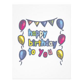 "Happy Birthday To You 8.5"" X 11"" Flyer"