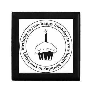 Happy birthday to you cupcake circle keepsake boxes