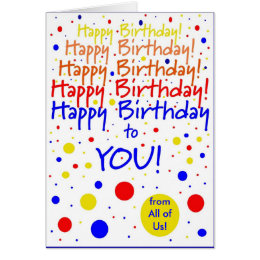 From the group birthday cards greeting photo cards zazzle happy birthday to you from group card bookmarktalkfo Gallery