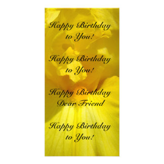 Happy Birthday to You! Photo Cards Iris Flower