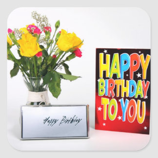 Happy Birthday to You Square Sticker
