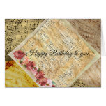 Happy Birthday to you Vintage Sheet Music Card