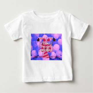 Happy Birthday Today is my Birthday Blue Balloons Baby T-Shirt