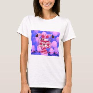 Happy Birthday Today is my Birthday Blue Balloons T-Shirt