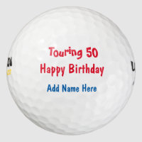 Happy Birthday Tour Golf Balls