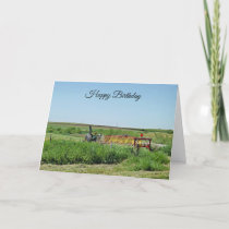 Happy Birthday Tractor  on the Farm Card