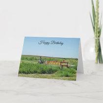 Happy Birthday Tractor  on the Farm Card