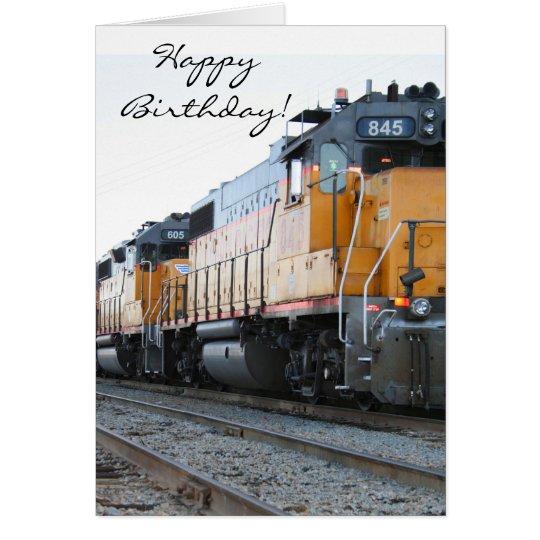 Happy Birthday Train greeting card