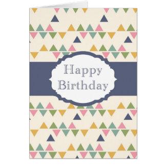Happy Birthday (triangle) Greeting Card