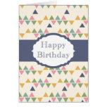 Happy Birthday (triangle) Cards