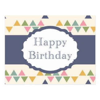 Happy Birthday (triangle) Postcard