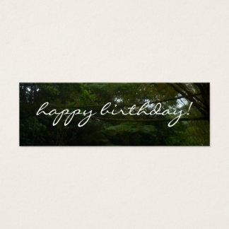 Happy Birthday Tropical Rainforest Bamboo Mini Business Card
