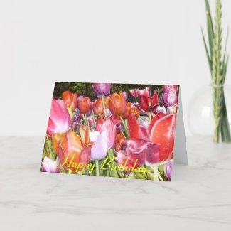 Happy Birthday Tulip Card card