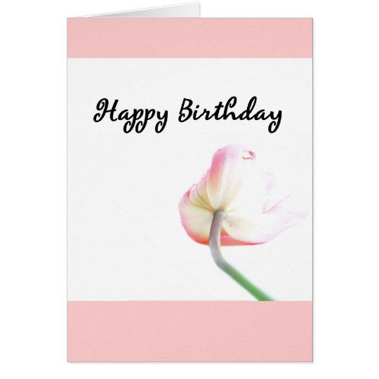 Happy Birthday Tulip No.2 Card