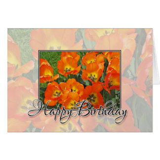 Happy Birthday Tulips Card