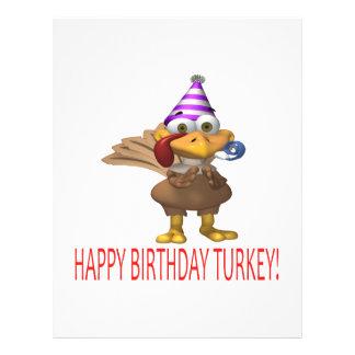 """Happy Birthday Turkey 8.5"""" X 11"""" Flyer"""