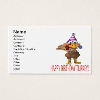 Happy Birthday Turkey Business Card