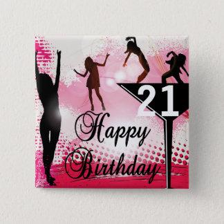 Happy Birthday turning 21 | DIY AGE Button