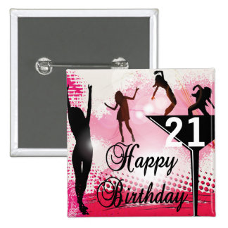 Happy Birthday turning 21 | DIY AGE 2 Inch Square Button