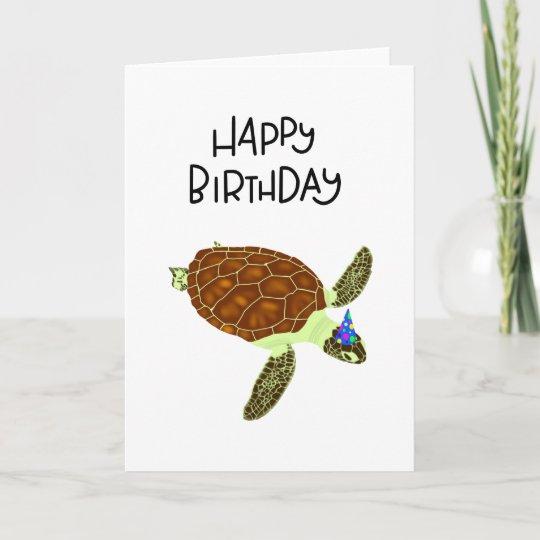 Happy Birthday Turtle Card Zazzle