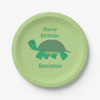 Happy Birthday Turtle Plates