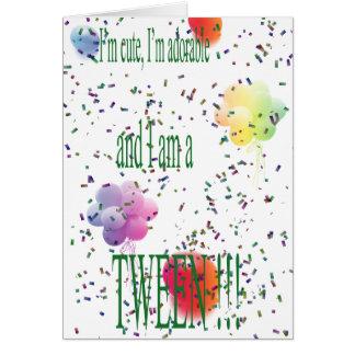 happy birthday tween card