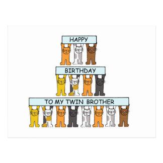 Happy Birthday twin brother. Postcard