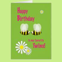 Happy Birthday Twins Card