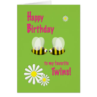 Happy Birthday Twins Card