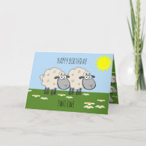 Happy Birthday Two Ewe Card