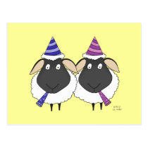 Happy Birthday Two Ewe Postcard