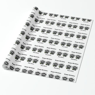 Happy Birthday Two Ewe To You Cartoon Wrapping Paper