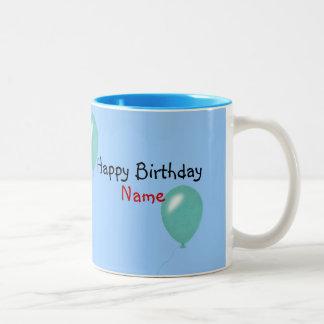 Happy Birthday Two-Tone Coffee Mug