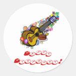 Happy Birthday Ukulele Stickers!