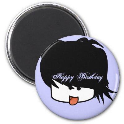 Happy Birthday Ultra Cute Anime Boy Magnet by samack