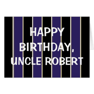 Happy Birthday Uncle BP Stripes Card
