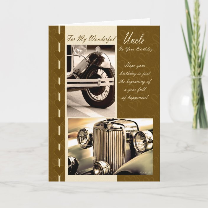 Happy Birthday Uncle Uncle Birthday Card Cars Zazzle Com