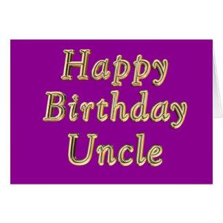 Happy Birthday Uncle's Birthday Uncles Birthday Greeting Card