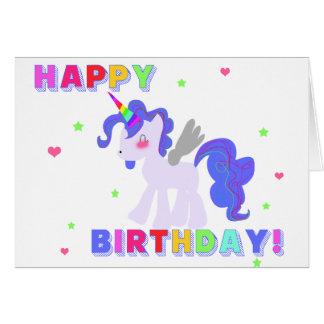 Happy Birthday Unicorn Card 3 I LOVE UNICORNS