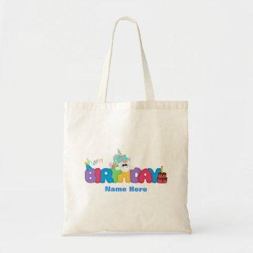 birthday Happy Birthday Unicorn (personalized) Tote Bag