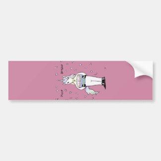 Happy Birthday Unicorn Rose Bumper Sticker