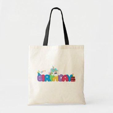 birthday Happy Birthday Unicorn tote bag