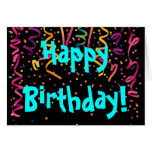 Happy Birthday Unisex Super Confetti Card