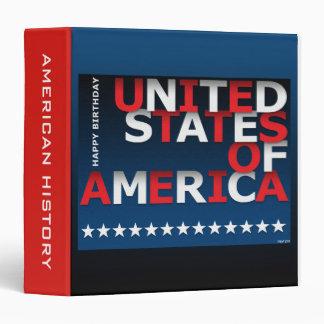 Happy Birthday USA 3 Ring Binder