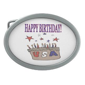 Happy Birthday USA Belt Buckles