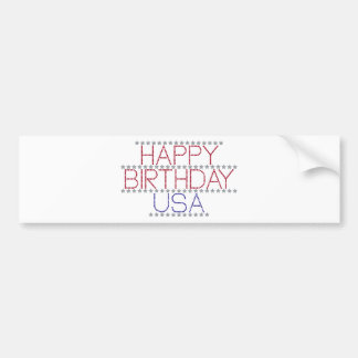 happy-birthday-usa bumper sticker