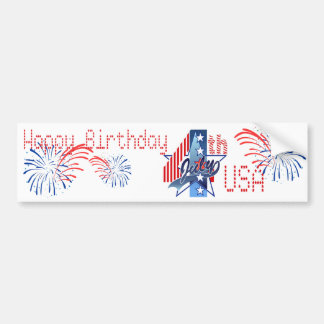 HAPPY BIRTHDAY USA by SHARON SHARPE Bumper Sticker