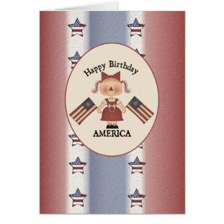 Happy Birthday USA Greeting Cards