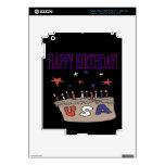 Happy Birthday USA iPad 3 Skins